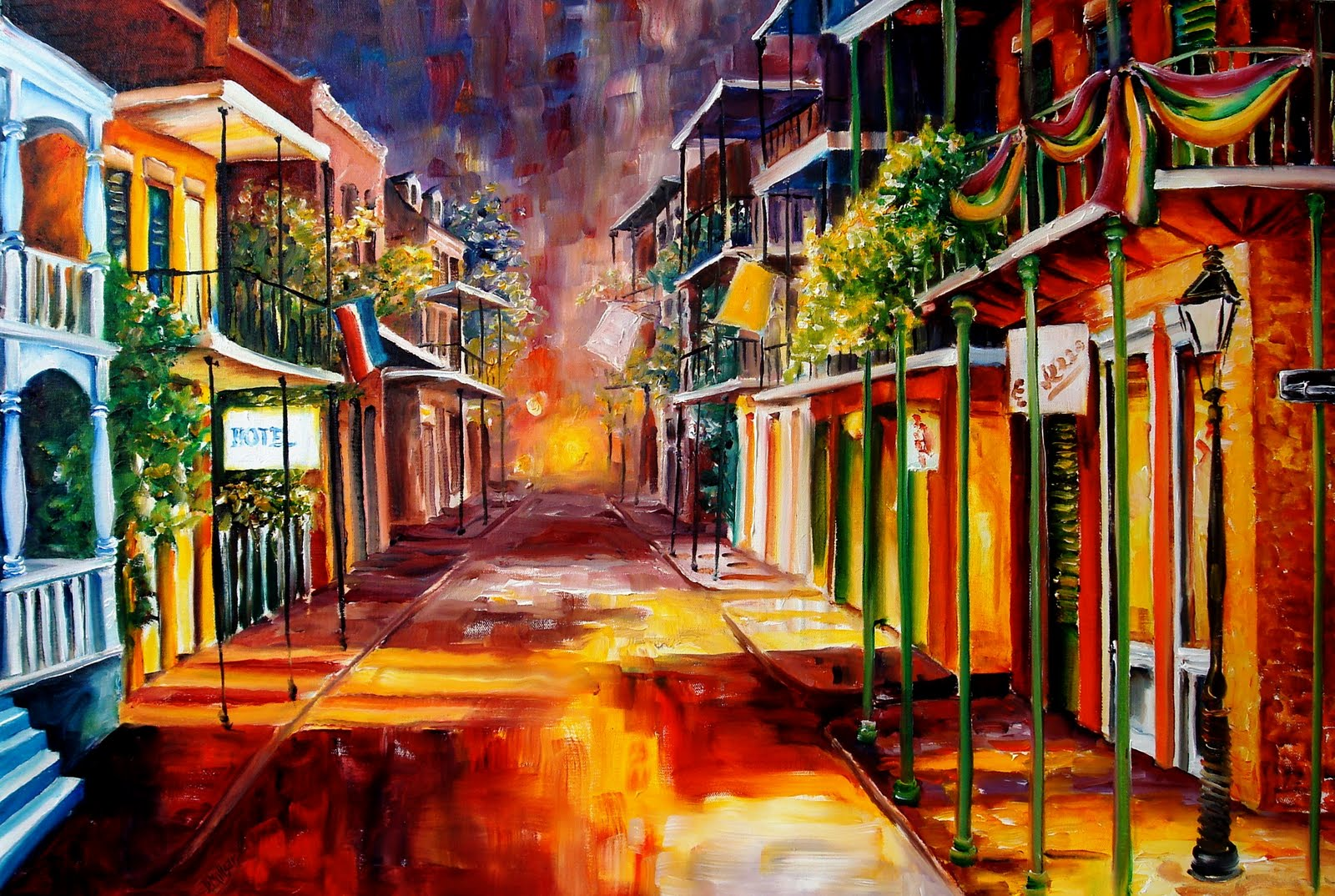 New orleans art by diane millsap twilight in new orleans New orleans paint colors