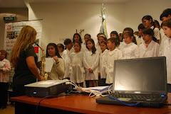 El Coro de Alumnos en la Presentación de la MM