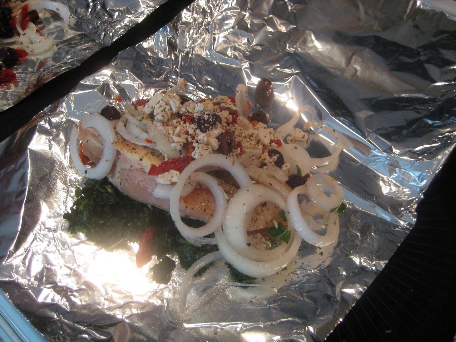 ... Chef: Chicken Dinner in a Foil Packet .... MEDITERANNEAN style