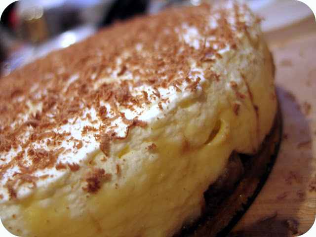 Bananas Foster Black Bottom Cream Pie ~ Dozen Flours