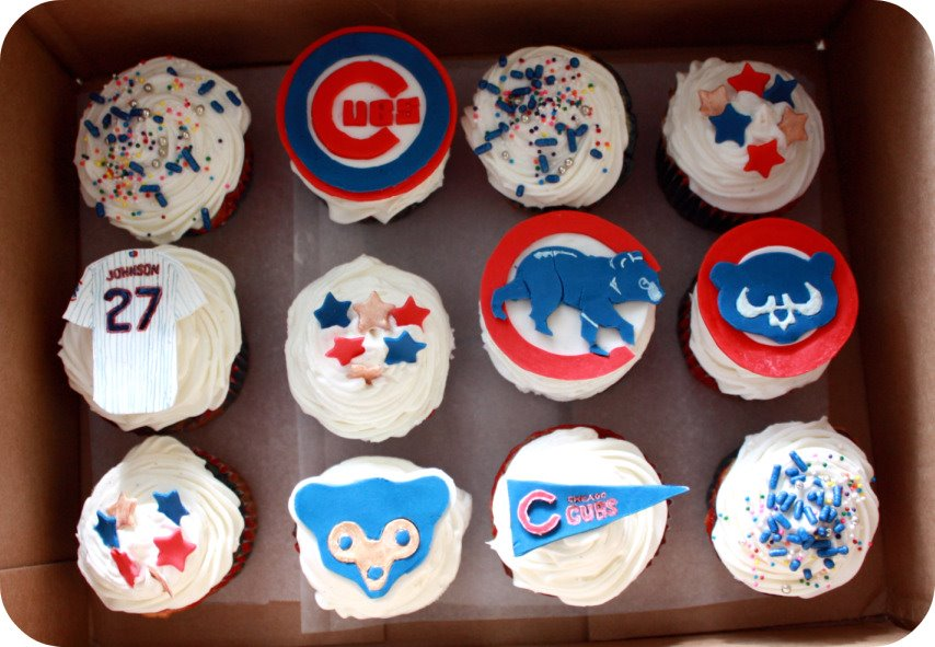 Chicago Cubs Red White And Blue Celebration Cupcakes Dozen Flours