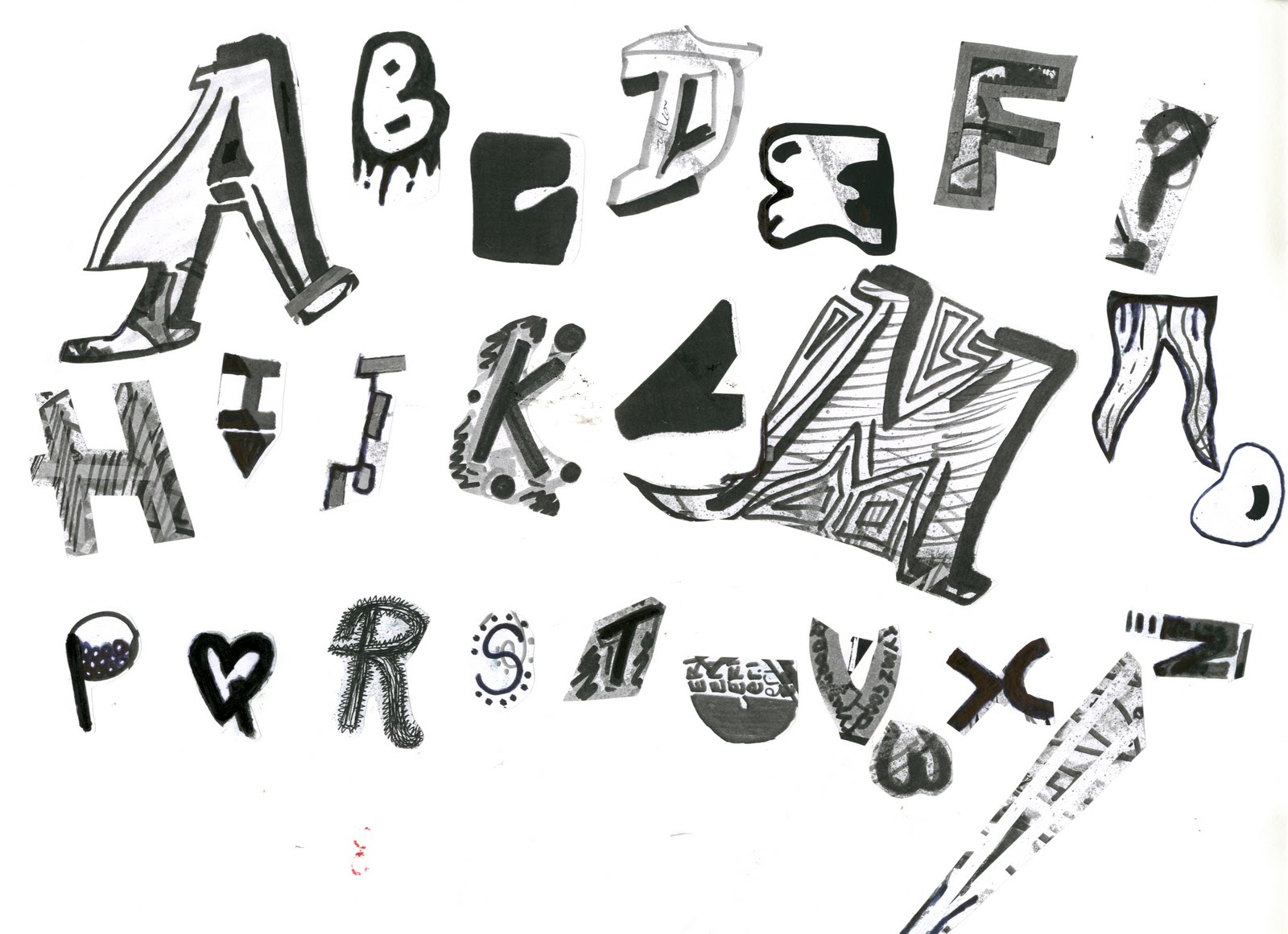 Ways To Write Words keri fearn: creating a typeface first attempt.