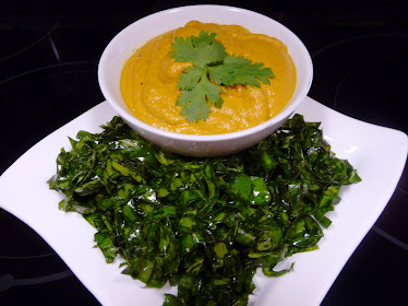 Yam Souffle and Southern Greens
