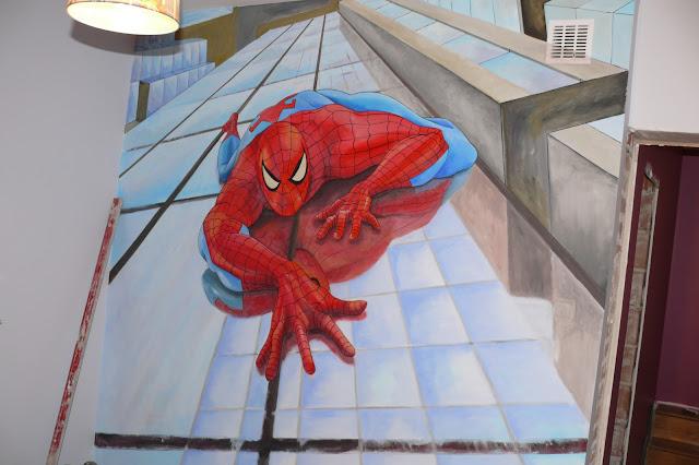 malowanie spider mana, aranżacja pokoju dziecięcego, warszawa