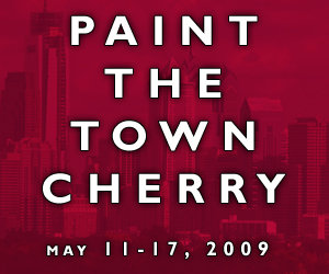 Paint the Town Cherry banner