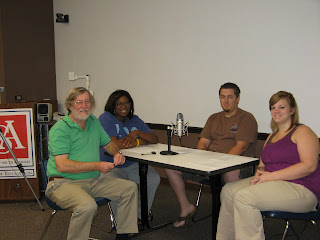 Dr. John Strange, Margaret Hines, Stephen Burrough, and Erica Freeman