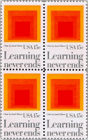 Learning Never Ends U.S. Postal Stamp