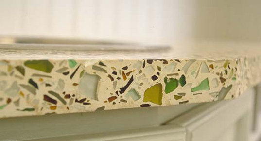 Countertop Materials Recycled : ... and recycling, ?going green? is more than just a short-lived fad