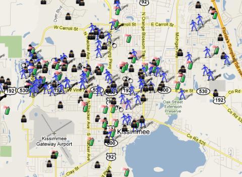 Crime Map Of Florida.Kissimmee Florida Crime Map Spotcrime The Public S Crime Map