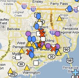 Map Of Pensacola Florida.Mylocalcrime In Pensacola Fl Spotcrime The Public S Crime Map