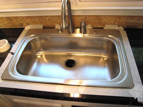 Caulking Around Kitchen Sink