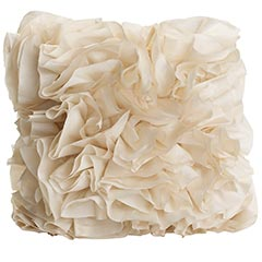 This pillow from Pier 1 is perfect to add a touch of dimension and a creamy hue to any space.