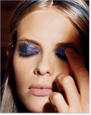 blue and purple makeup. Makeup artists dreamed in
