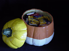 Pumpkin Candy Bowl- Open