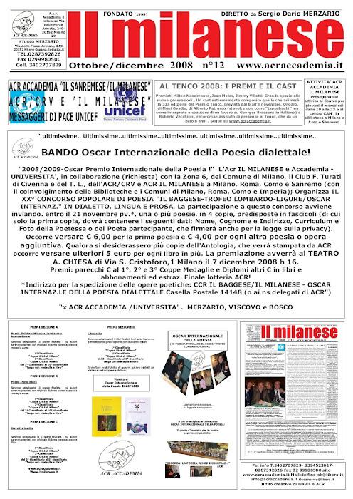 il milanese OSCAR e Bando..