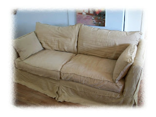 Now, As I Stated, I Love Slipcovered Furniture, But Here Is What I Have  Learned. I Have A White Slipcoved Denim Couch (below) In My Kitchen (yes,  Kitchen).