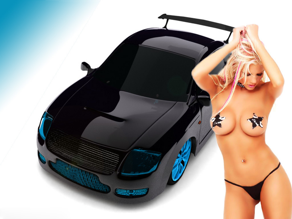 Sexy chicks and cars