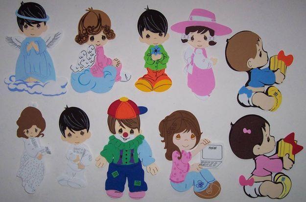 Figuras de niños en foami - Imagui