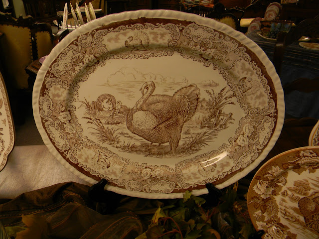 Crown Ducal produced this blue turkey platter in 1930 as part of the Colonial Scenes dinnerware which is very collectible. I have this on the wall in my ... & Nancyu0027s Daily Dish: Talking Turkey.... and Transferware