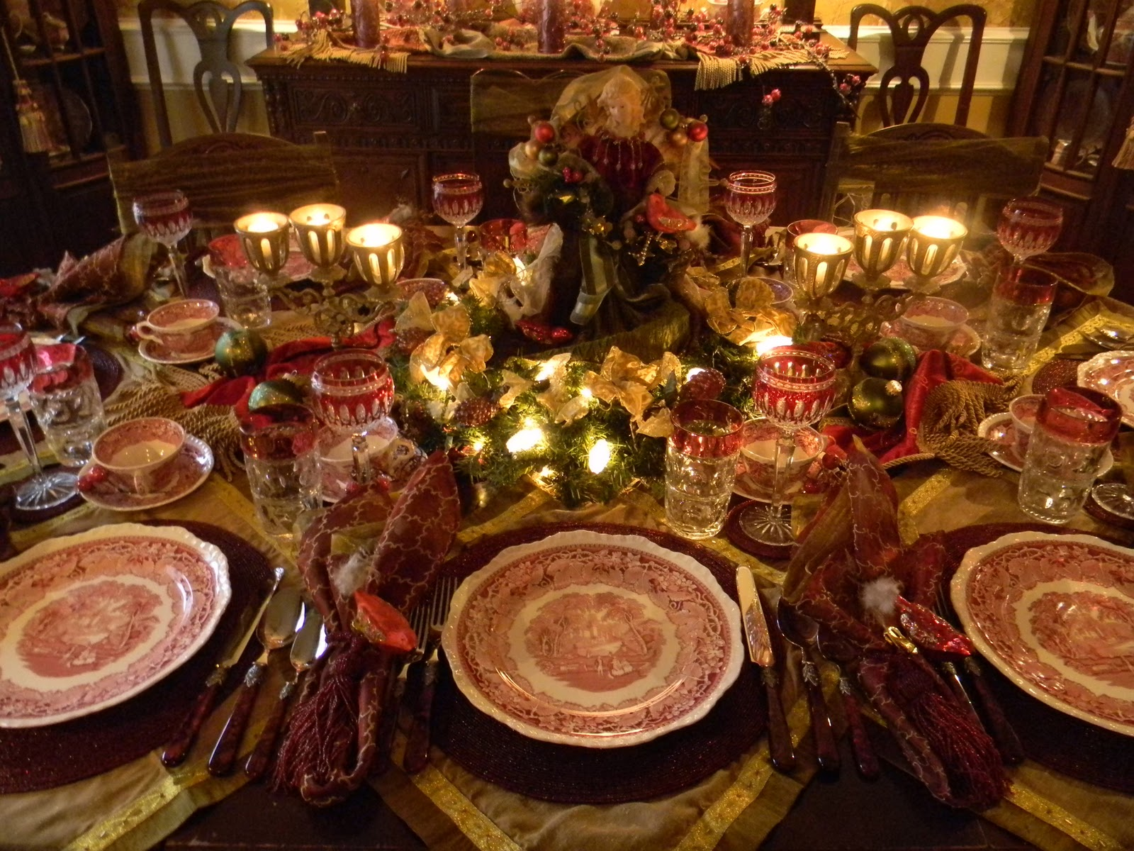 Nancy 39 s daily dish christmas tablescape with masons vista for Edwardian table setting