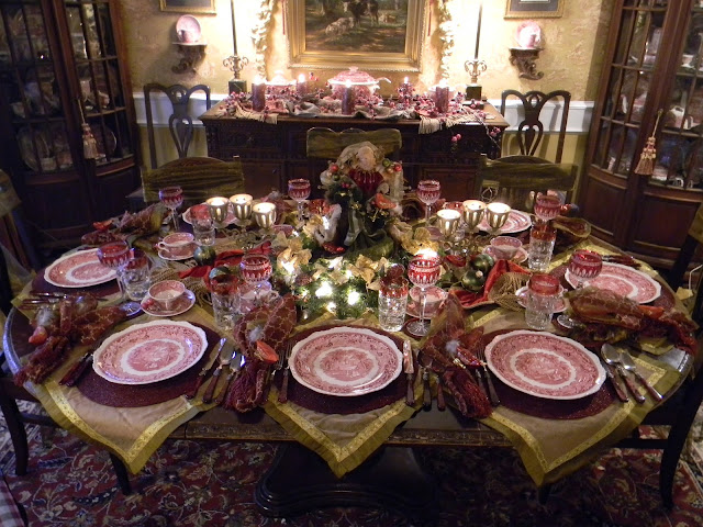 Christmas Tablescape With Masons Vista