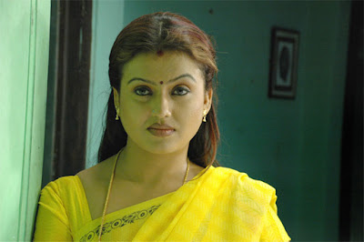 tamil actress in yellow saree