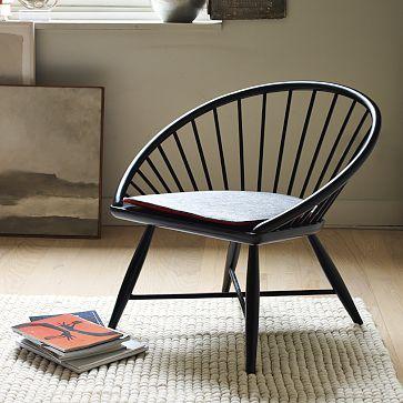 Modern windsor accent chair modern dining chairs by west elm - Billede Design