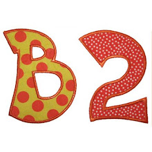 Funky applique alphabet