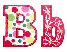 Block applique alphabet