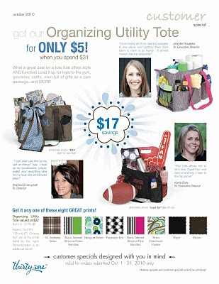 Simply Sara: Thirty One Gifts OCTOBER Special begins tomorrow!!!!