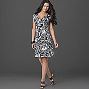 JCP-Bisou Bisou Flutter Sleeve Plus Size Dress
