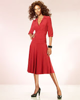 NPN-Shape Fx Slimming Shirred Waist Dress