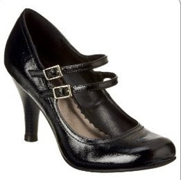 Xhilaration Sadira Mary Jane Pumps Black Patent