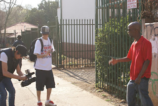 Snypa Kidd & Hearstreet on set for Rudeboy video shoot