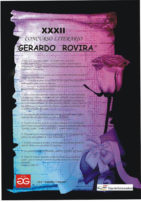 CARTEL GERARDO ROVIRA