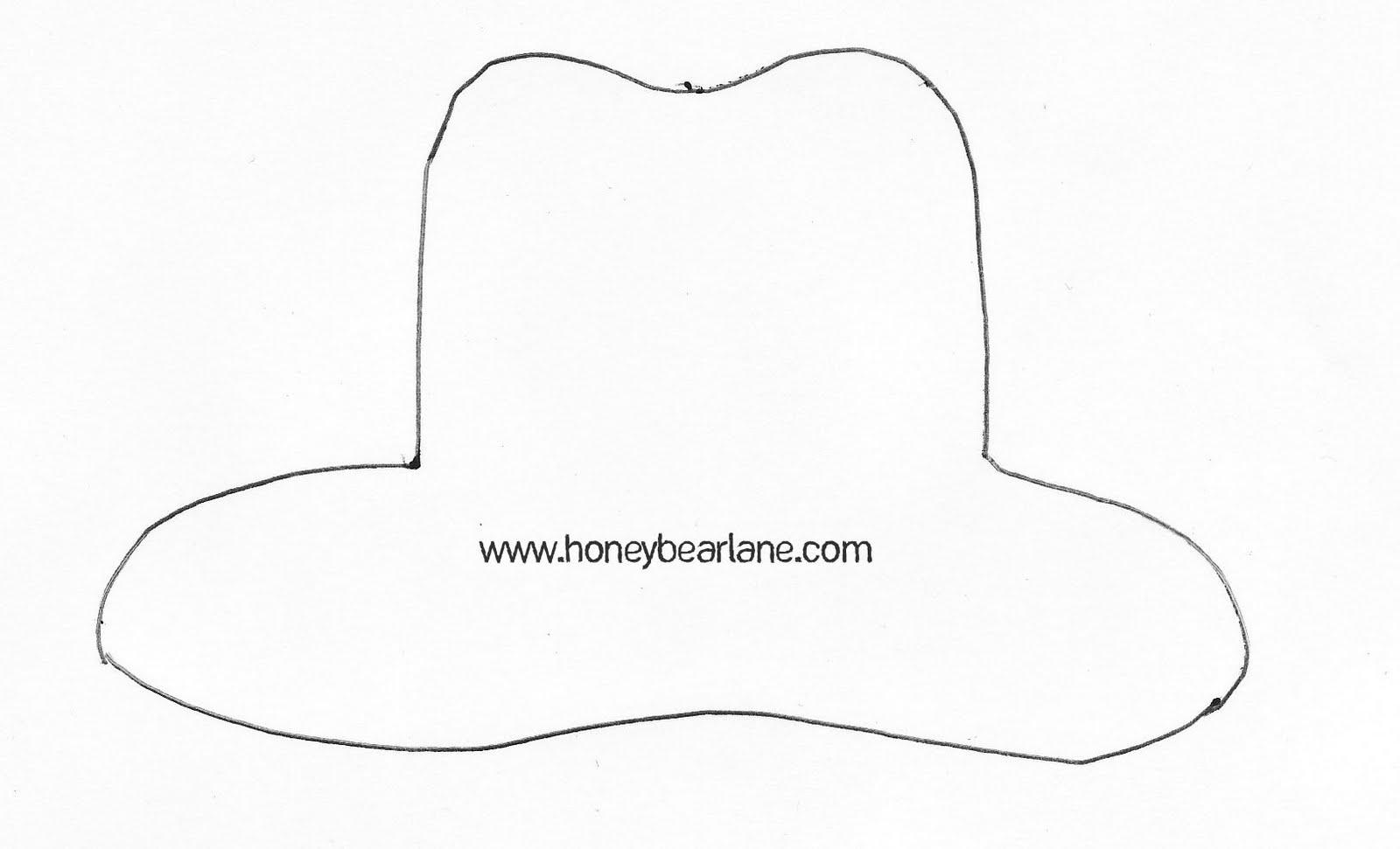 Cowboy Hat Template