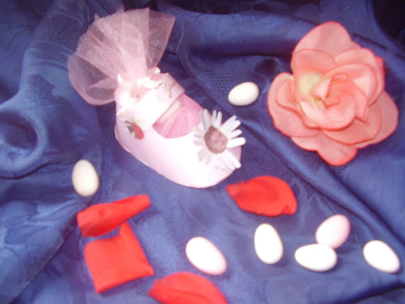 petit chausson uni rose