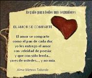 PREMIO; El amor se comparte