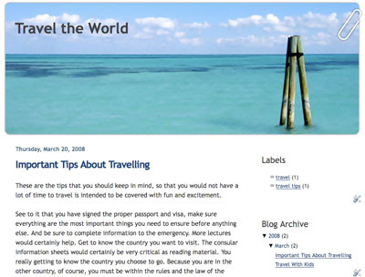 World Blogspot Templates