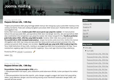 2 column blogspot template