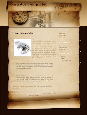 History Channel - blogspot template