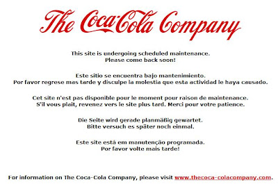 Hacked Coca Cola Site