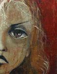 Retrato de mujer (siete) - Acrílico y carbonilla sobre tela 65 x 85cm.