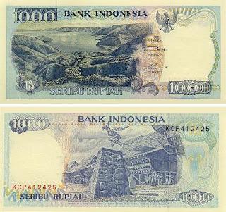 1992 rp 1000 Perubahan Mata Uang 1000 Rupiah dari Tahun 1952 2010