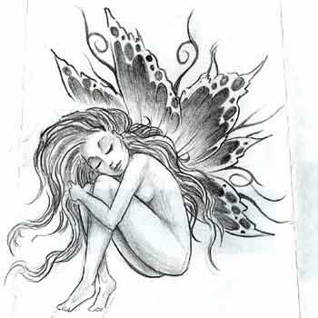 faries tattoos. Cute Fairy Tattoos