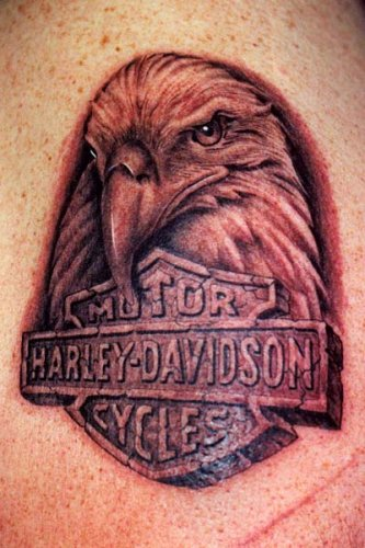 Tattoo area harley davidson tattoo ideas harley tattoos for Free harley davidson tattoo designs
