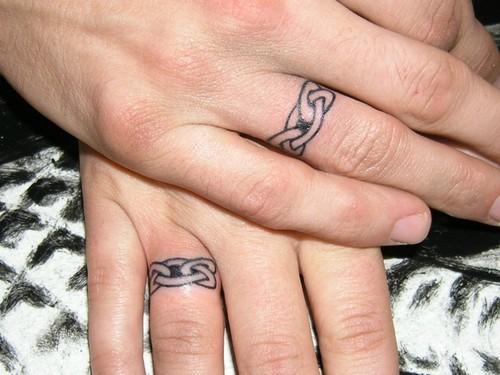 Ring Finger Tattoo-Best Wedding Tattoos Art » finger ring tattoo