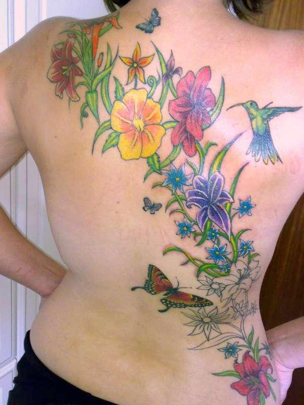 Bird Tattoo Meanings. Hummingbird Tattoo Designs.
