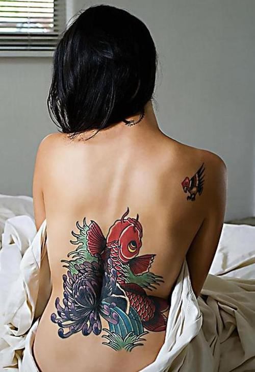The Christian fish tattoo design is another popular tattoo.