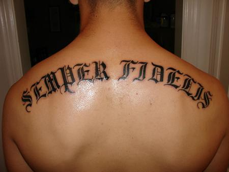 chinese letters tattoos. Back